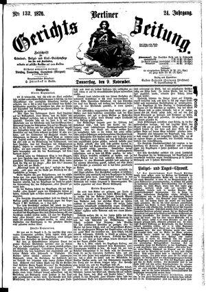 Berliner Gerichts-Zeitung vom 09.11.1876