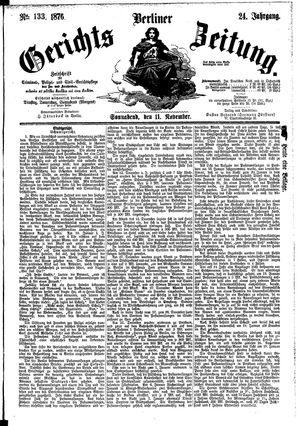 Berliner Gerichts-Zeitung vom 11.11.1876