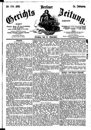 Berliner Gerichts-Zeitung vom 14.11.1876
