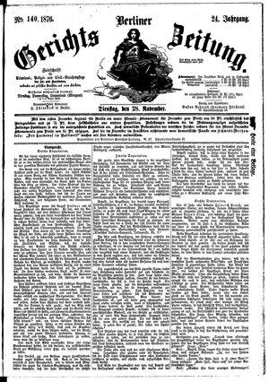 Berliner Gerichts-Zeitung vom 28.11.1876