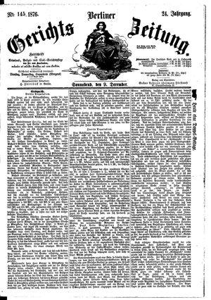 Berliner Gerichts-Zeitung vom 09.12.1876