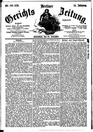 Berliner Gerichts-Zeitung vom 16.12.1876