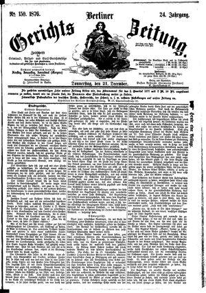 Berliner Gerichts-Zeitung vom 21.12.1876