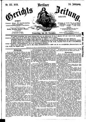 Berliner Gerichts-Zeitung vom 28.12.1876