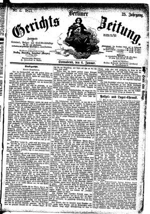Berliner Gerichts-Zeitung vom 06.01.1877