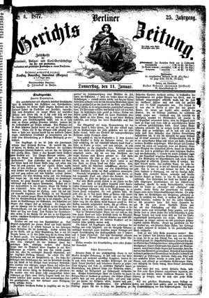 Berliner Gerichts-Zeitung vom 11.01.1877