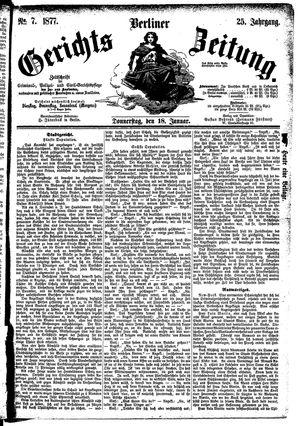 Berliner Gerichts-Zeitung vom 18.01.1877