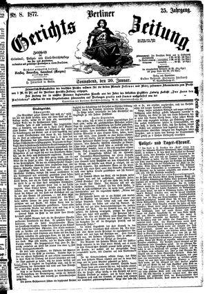 Berliner Gerichts-Zeitung vom 20.01.1877