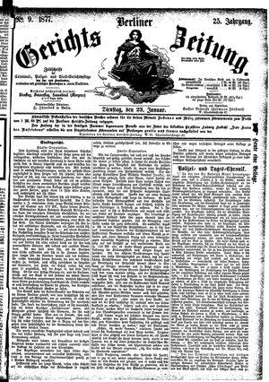 Berliner Gerichts-Zeitung vom 23.01.1877
