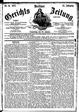 Berliner Gerichts-Zeitung on Jan 25, 1877