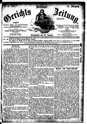 Berliner Gerichts-Zeitung on Jan 27, 1877