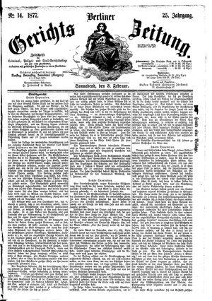 Berliner Gerichts-Zeitung vom 03.02.1877