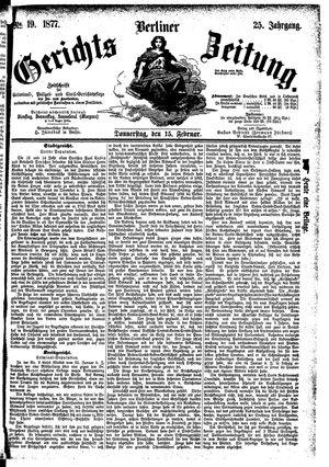 Berliner Gerichts-Zeitung vom 15.02.1877