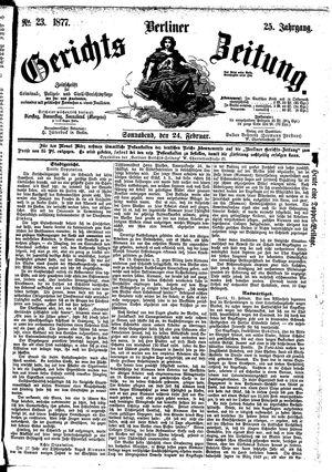 Berliner Gerichts-Zeitung vom 24.02.1877