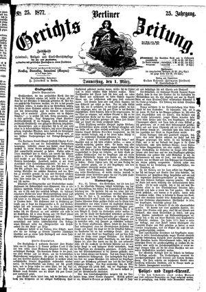 Berliner Gerichts-Zeitung vom 01.03.1877