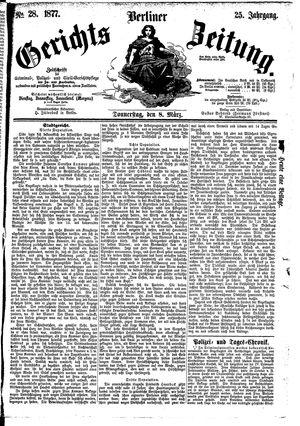 Berliner Gerichts-Zeitung vom 08.03.1877