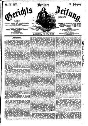 Berliner Gerichts-Zeitung vom 10.03.1877