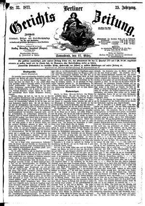 Berliner Gerichts-Zeitung vom 17.03.1877