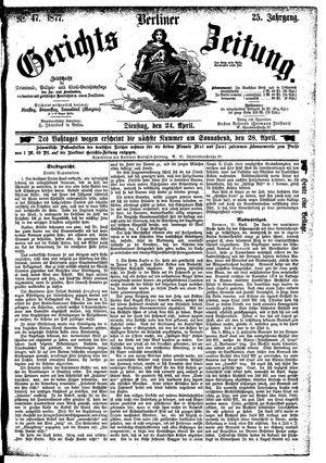 Berliner Gerichts-Zeitung vom 24.04.1877