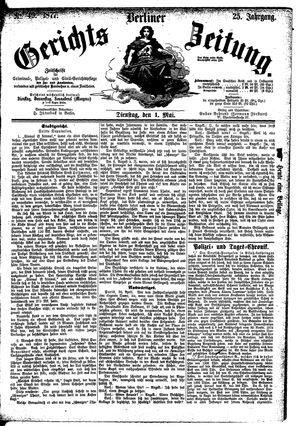 Berliner Gerichts-Zeitung vom 01.05.1877