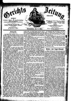 Berliner Gerichts-Zeitung vom 05.05.1877