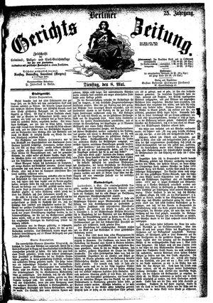 Berliner Gerichts-Zeitung vom 08.05.1877