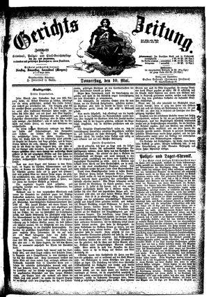 Berliner Gerichts-Zeitung vom 10.05.1877
