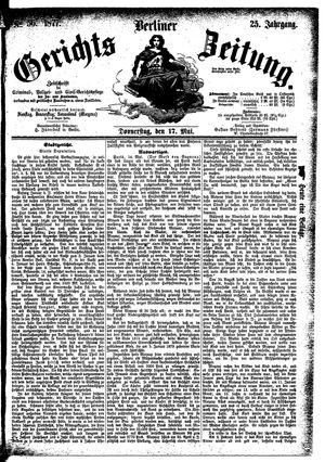 Berliner Gerichts-Zeitung vom 17.05.1877