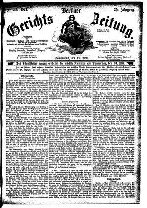 Berliner Gerichts-Zeitung vom 19.05.1877