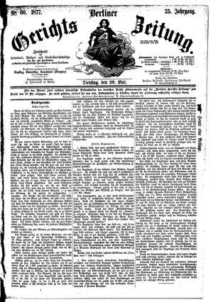 Berliner Gerichts-Zeitung vom 29.05.1877