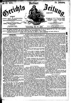 Berliner Gerichts-Zeitung vom 14.06.1877