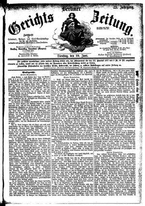Berliner Gerichts-Zeitung on Jun 19, 1877