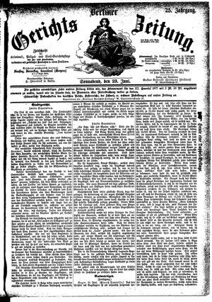 Berliner Gerichts-Zeitung vom 23.06.1877