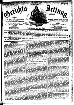 Berliner Gerichts-Zeitung vom 30.06.1877