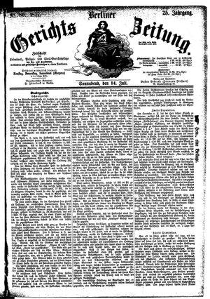 Berliner Gerichts-Zeitung vom 14.07.1877