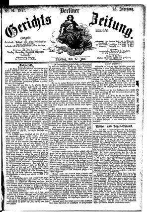 Berliner Gerichts-Zeitung vom 17.07.1877