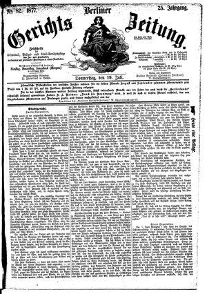 Berliner Gerichts-Zeitung vom 19.07.1877