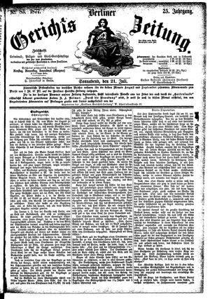 Berliner Gerichts-Zeitung vom 21.07.1877