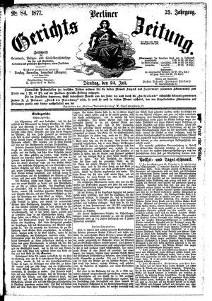 Berliner Gerichts-Zeitung vom 24.07.1877