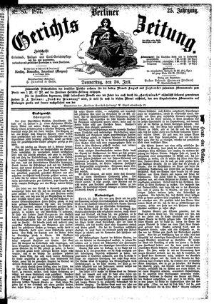 Berliner Gerichts-Zeitung vom 26.07.1877
