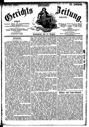 Berliner Gerichts-Zeitung vom 11.08.1877