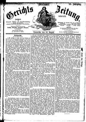 Berliner Gerichts-Zeitung vom 16.08.1877