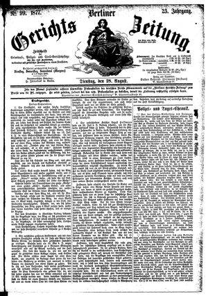 Berliner Gerichts-Zeitung vom 28.08.1877