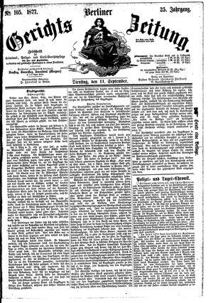 Berliner Gerichts-Zeitung vom 11.09.1877