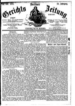 Berliner Gerichts-Zeitung vom 13.09.1877