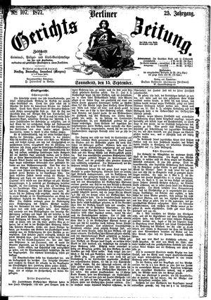 Berliner Gerichts-Zeitung vom 15.09.1877