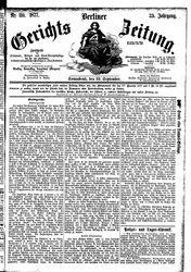 Berliner Gerichts-Zeitung (22.09.1877)