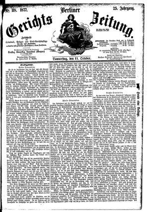 Berliner Gerichts-Zeitung vom 11.10.1877