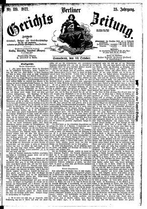 Berliner Gerichts-Zeitung vom 13.10.1877