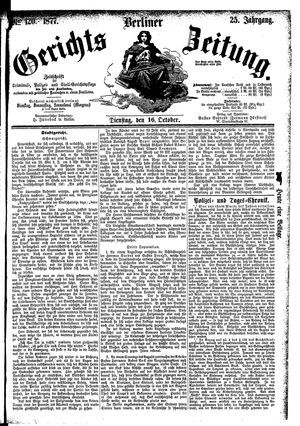 Berliner Gerichts-Zeitung vom 16.10.1877